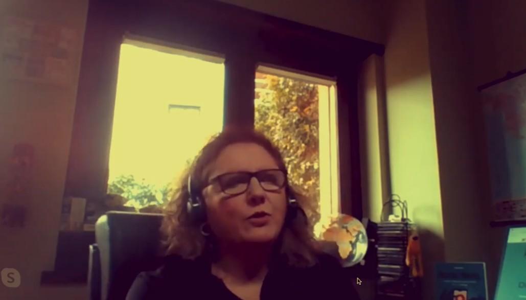 Anna Bruno, durante l'intervista
